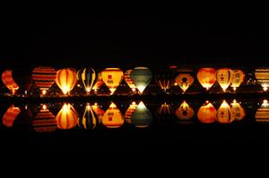 ライトアップされた瀬戸内市バルーン大会ー3
