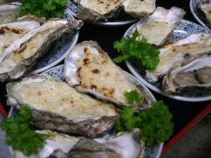 牡蛎グラタン牡蛎バター炒め
